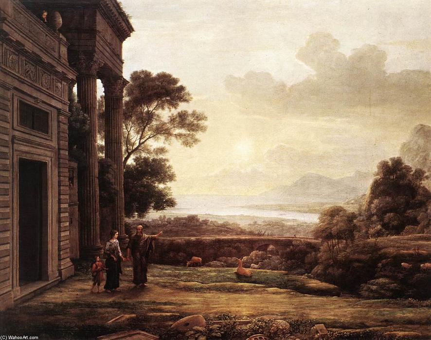 The Expulsion of Hagar, Oil On Canvas by Claude Lorrain (Claude Gellée)