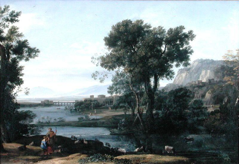 The Rise of the Roman Empire, Oil by Claude Lorrain (Claude Gellée)