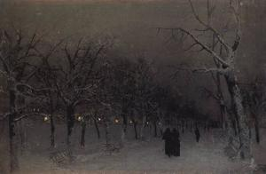Isaak Ilyich Levitan - Boulevard in the evening.