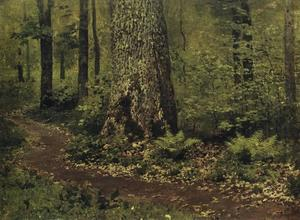 Isaak Ilyich Levitan - Footpath in a Forest. Fer..