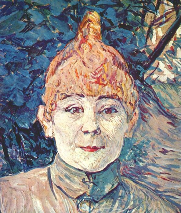 Casque d'Or, Oil by Henri De Toulouse Lautrec (1864-1901, France)