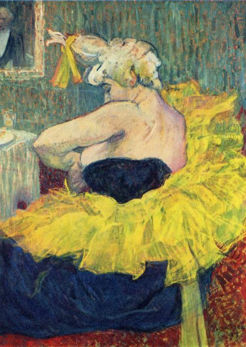 Cha-U-Kau, The Clowness, Oil by Henri De Toulouse Lautrec (1864-1901, France)
