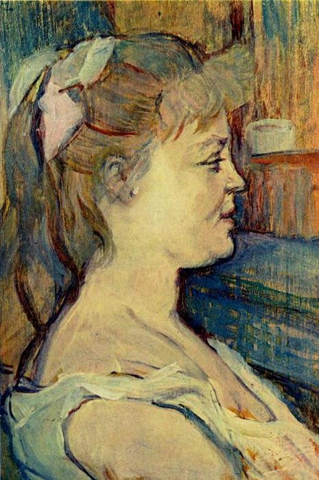 Femme de Maison1, Oil by Henri De Toulouse Lautrec (1864-1901, France)