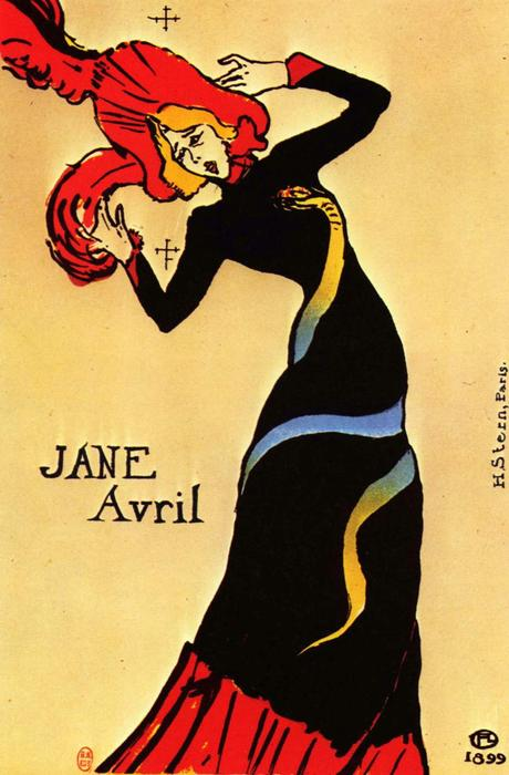 Jane Avril, 1893 by Henri De Toulouse Lautrec (1864-1901, France)