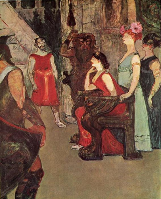 Messalina Seated, Canvas by Henri De Toulouse Lautrec (1864-1901, France)