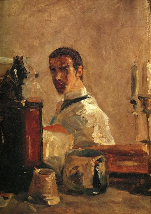 Self-Portrait1, Oil by Henri De Toulouse Lautrec (1864-1901, Second French Empire)