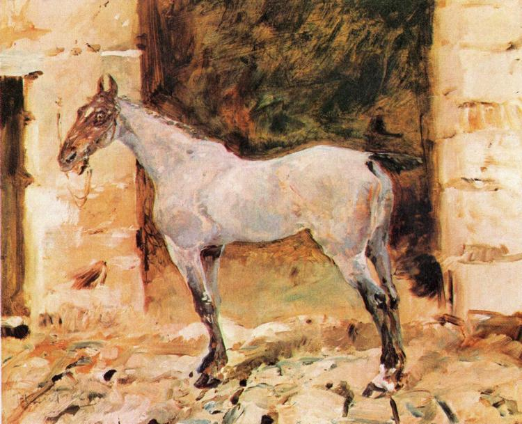 Tethered Horse, Oil On Canvas by Henri De Toulouse Lautrec (1864-1901, France)