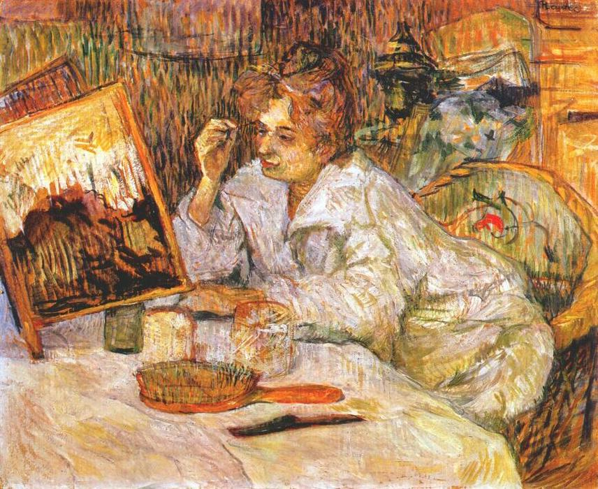 Woman at Her Toilette, Oil On Canvas by Henri De Toulouse Lautrec (1864-1901, France)