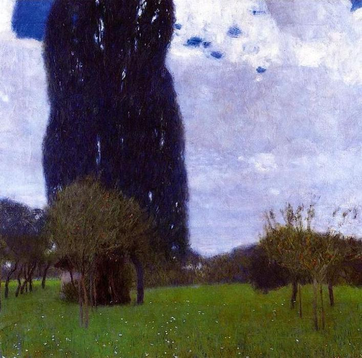 The Tall Poplar Trees II, 1900 by Gustav Klimt (1862-1918, Austria) | Art Reproduction | ArtsDot.com