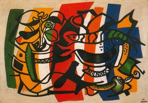 Fernand Leger - Still life with two fish