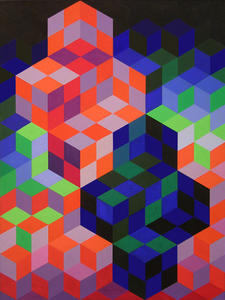 Victor Vasarely - Duo-2
