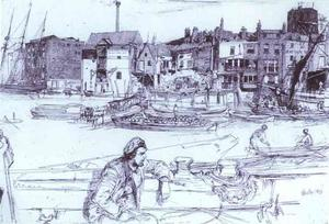 James Abbott Mcneill Whistler - Black Lion Wharf