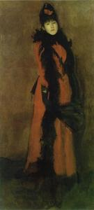 James Abbott Mcneill Whistler - Red and Black, The Fan