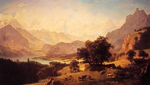 Albert Bierstadt - Bernese Alps, as Seen near Kusmach