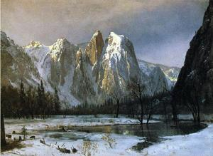 Albert Bierstadt - Cathedral Rocks, Yosemite Valley, California