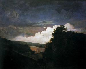Joseph Wright Of Derby - Arkwright-s Cotton Mills by Night