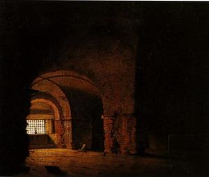 Joseph Wright Of Derby - Small Prison Scene