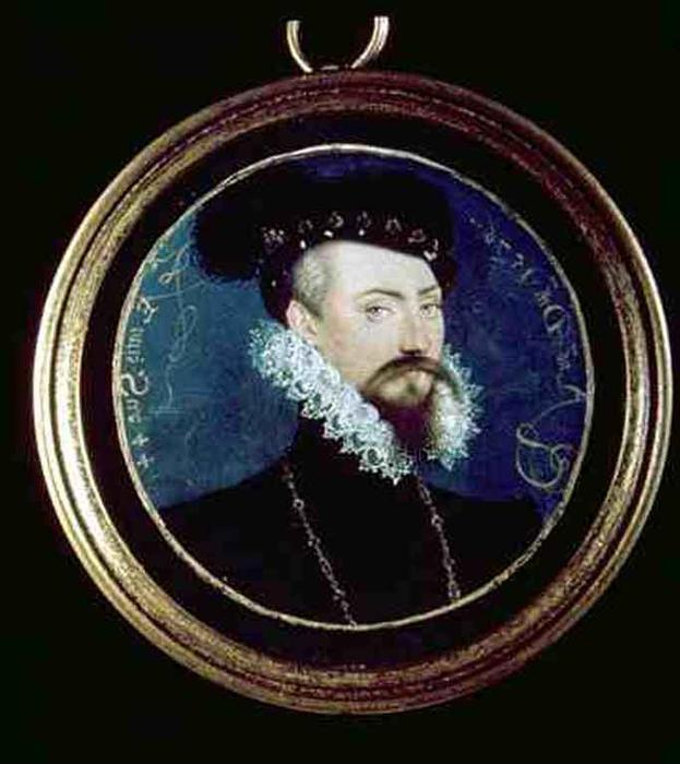 Dudley Miniature, Oil by Nicholas Hilliard (1577-1619, United Kingdom)