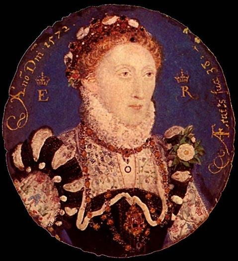 Miniature of Elizabeth I, Oil by Nicholas Hilliard (1577-1619, United Kingdom)