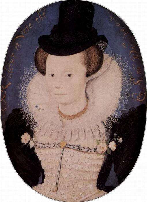 Portrait of an unknown woman by Nicholas Hilliard (1577-1619, United Kingdom) | ArtsDot.com
