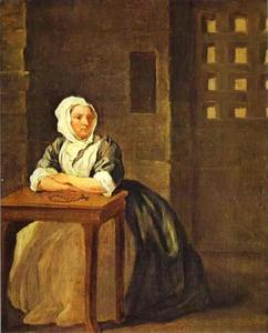William Hogarth - Sarah Malcolm in Prison