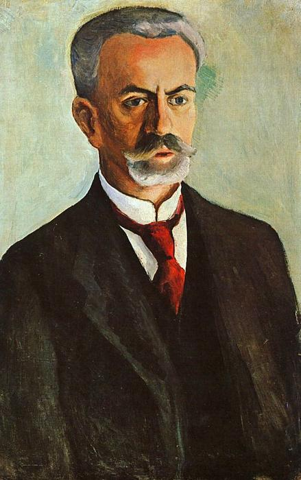 Portrait of Bernhard Koehler by August Macke (1887-1914, Germany) | Museum Quality Reproductions | ArtsDot.com