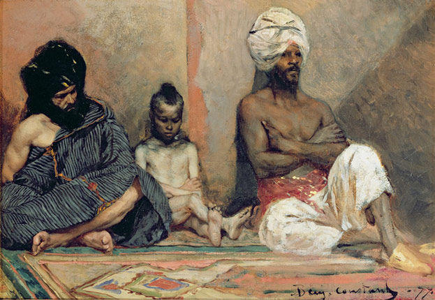 Arabes assis by Jean-Joseph Constant (Benjamin-Constant) (1845-1902, France) | Paintings Reproductions Jean-Joseph Constant (Benjamin-Constant) | ArtsDot.com