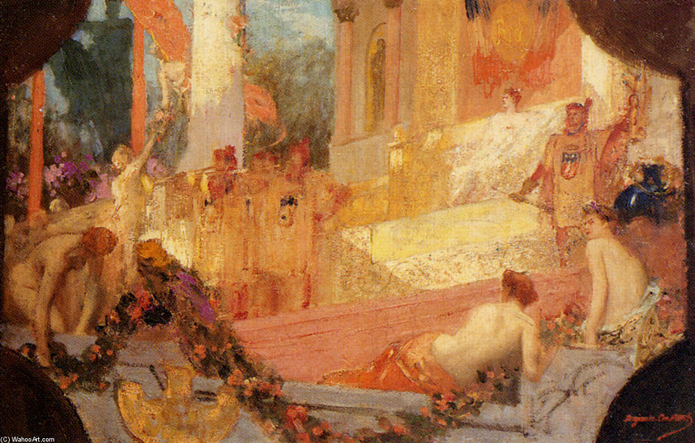 Paris Welcoming The World by Jean-Joseph Constant (Benjamin-Constant) (1845-1902, France) | Paintings Reproductions Jean-Joseph Constant (Benjamin-Constant) | ArtsDot.com