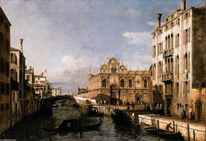 Bernardo Bellotto - Rio dei Mendicanti with t..
