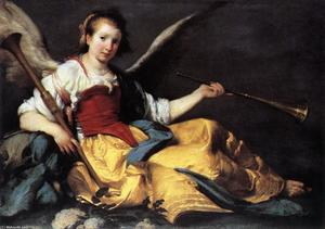 Bernardo Strozzi - A Personification of Fame