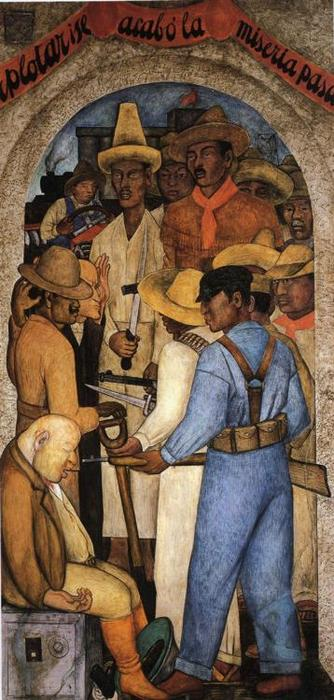 Death of the Capitalist, Frescoes by Diego Rivera (1886-1957, Mexico)