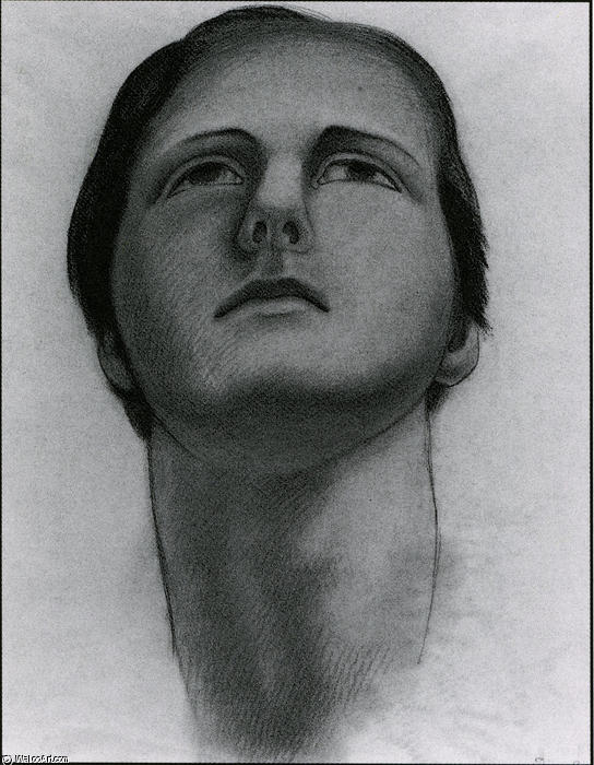 Head of a Woman 1, Oil by Diego Rivera (1886-1957, Mexico)