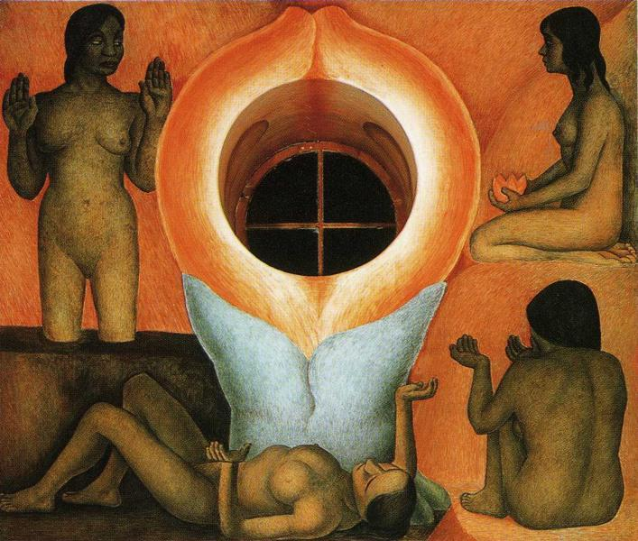 Maturation, Frescoes by Diego Rivera (1886-1957, Mexico)