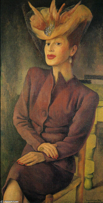 Portrait of Adalgisa Nery, Oil by Diego Rivera (1886-1957, Mexico)