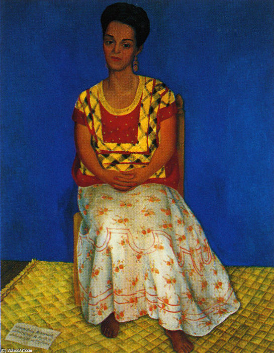 Portrait of Cuca Bustamante, Oil by Diego Rivera (1886-1957, Mexico)