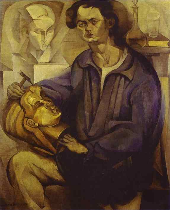 Portrait of Oscar Miestchaninoff, Oil On Canvas by Diego Rivera (1886-1957, Mexico)
