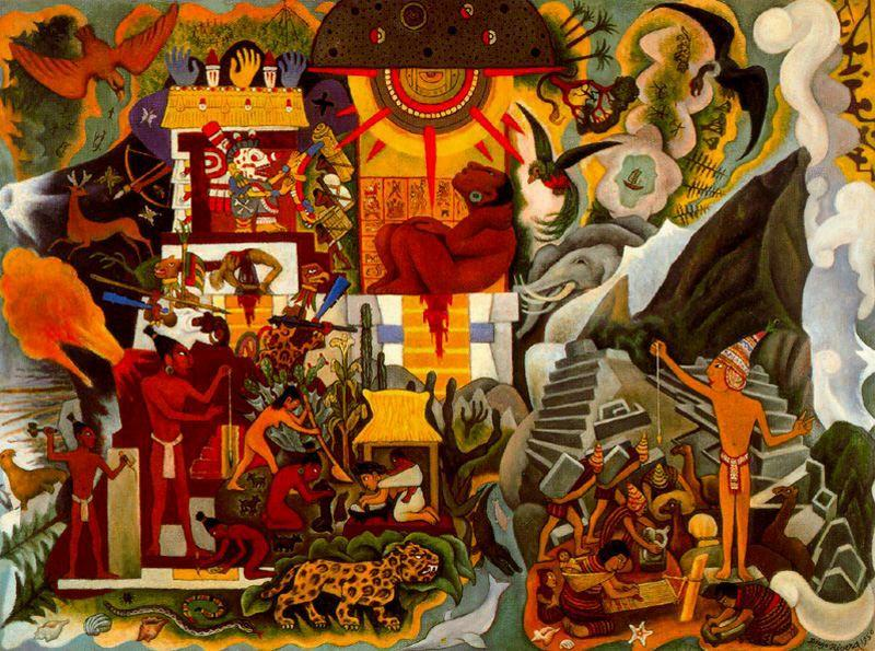 Pre Hispanic America by Diego Rivera (1886-1957, Mexico)