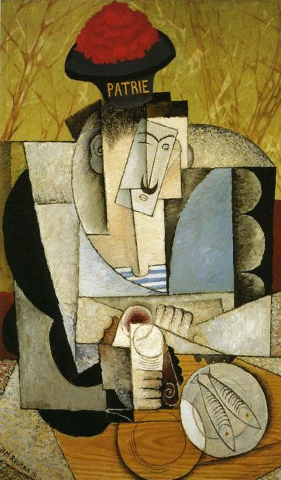 Sailor at Breakfast, Oil On Canvas by Diego Rivera (1886-1957, Mexico)