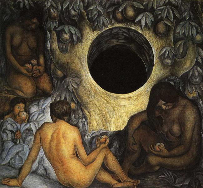 The Abundant Earth, Frescoes by Diego Rivera (1886-1957, Mexico)