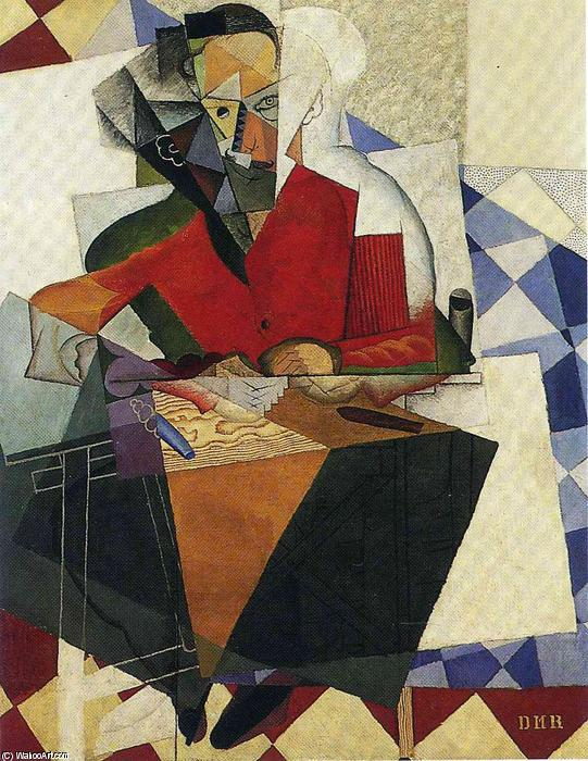 The Architect, Oil by Diego Rivera (1886-1957, Mexico)
