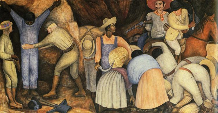 The Exploiters, Frescoes by Diego Rivera (1886-1957, Mexico)