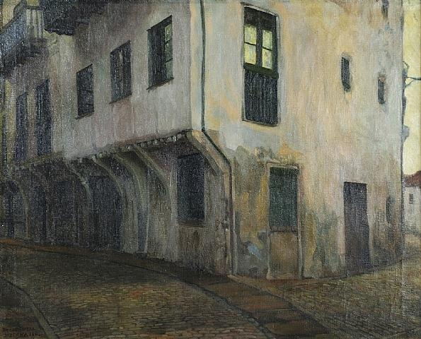 The House of Vizcaya, Oil by Diego Rivera (1886-1957, Mexico)