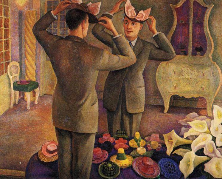 The Milliner. Potrait of Henri de Chatillon, Oil by Diego Rivera (1886-1957, Mexico)