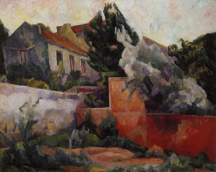 The Outskirts of Paris, Oil On Canvas by Diego Rivera (1886-1957, Mexico)