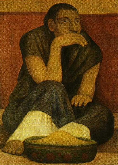 The Pinole Seller, Oil On Canvas by Diego Rivera (1886-1957, Mexico)