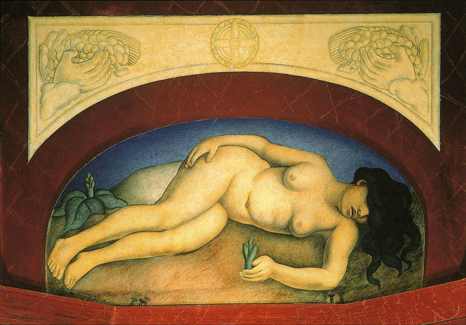 The Virgin Earth, Oil by Diego Rivera (1886-1957, Mexico)