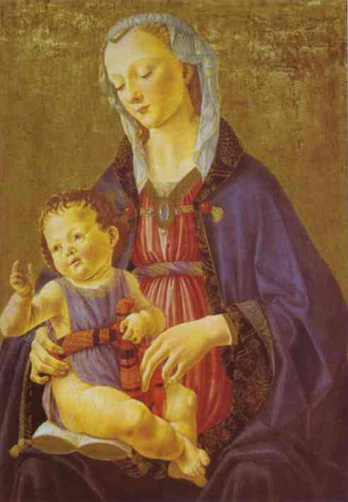 Madonna and Child, Tempera by Domenico Ghirlandaio (1449-1494, Italy)