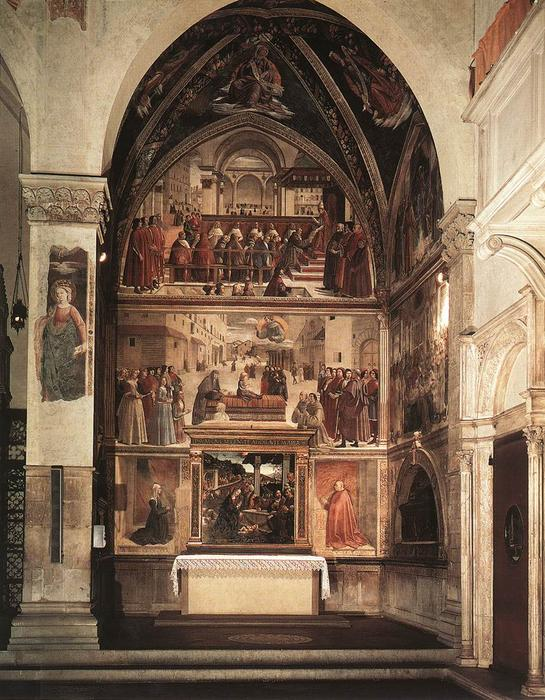 View of the Sassetti Chapel, 1483 by Domenico Ghirlandaio (1449-1494, Italy) | ArtsDot.com