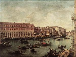 Francesco Lazzaro Guardi - The Grand Canal at the Fi..