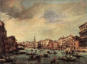 Francesco Lazzaro Guardi - The Grand Canal, Looking ..